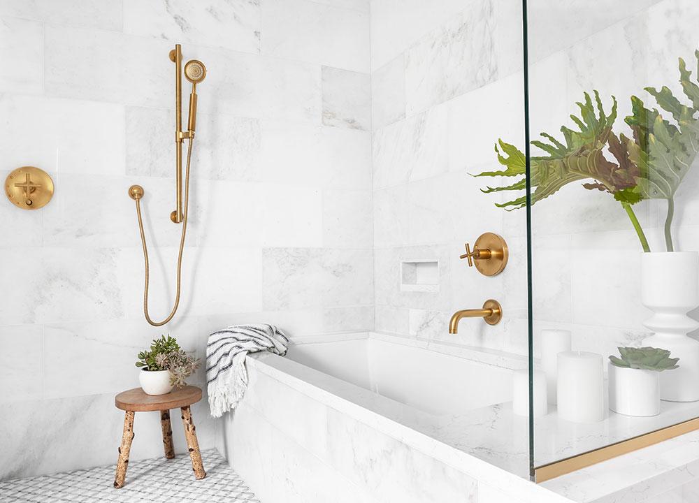 Shower Tub Combo, Shower Tub Combo, A Marble Gem, Bath Design - Valerie Legras Atelier