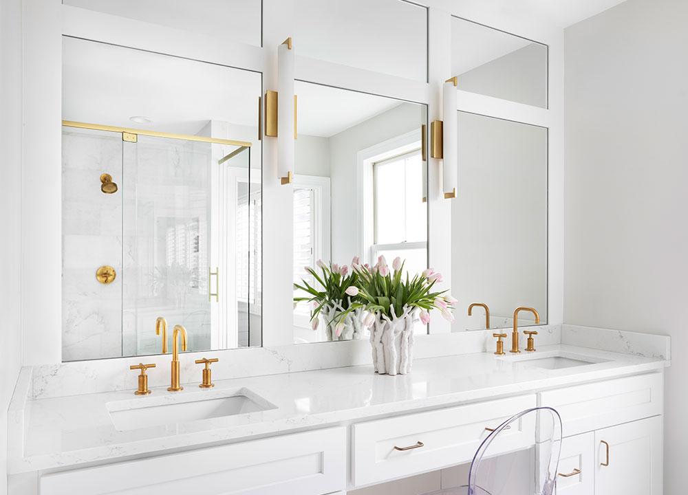Double Vanity, A Marble Gem, Bath Design - Valerie Legras Atelier