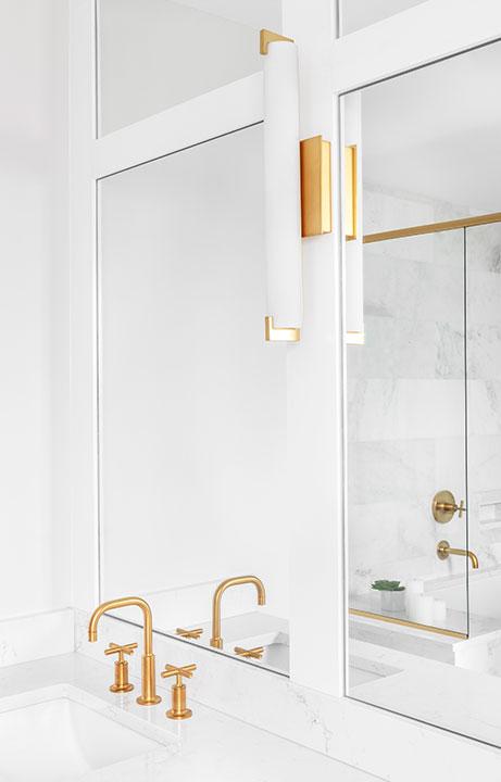 Double Vanity Detail, A Marble Gem, Bath Design - Valerie Legras Atelier