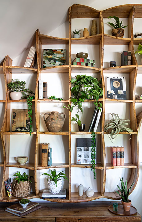 Custom Bookcase Detail, Living in an Adult Treehouse, Home Design - Valerie Legras Atelier