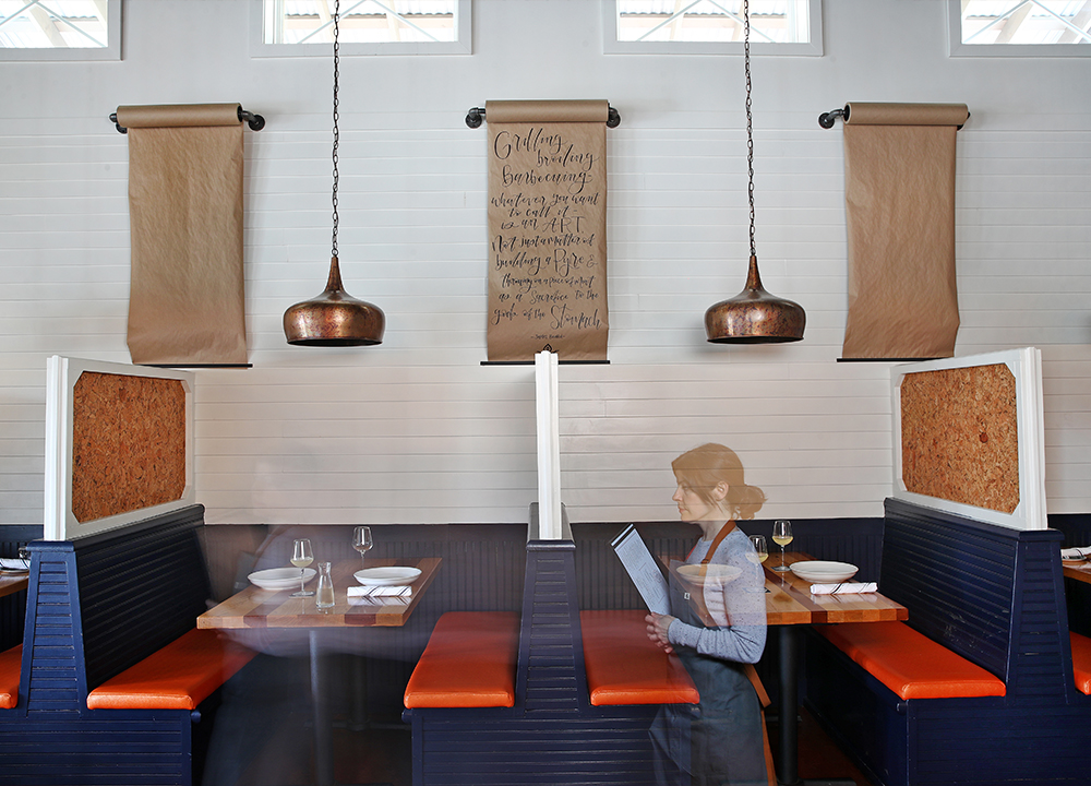 Pyre Provisions, Restaurant Design, Seating
