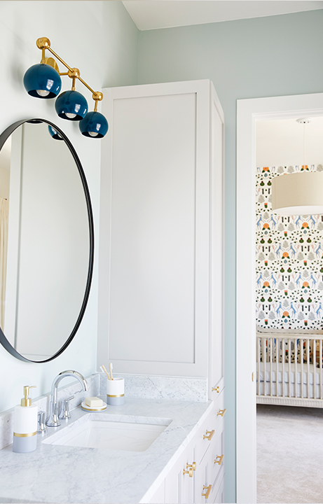 Children's Menagerie Bedroom and Bathroom, Home Design for Kids - Valerie Legras Atelier