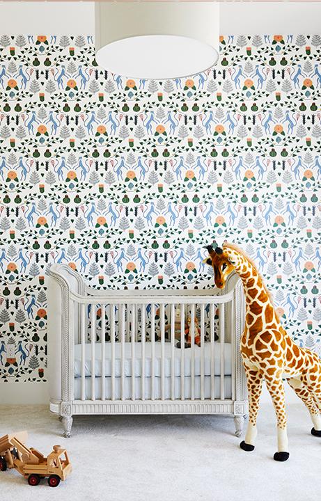 Children's Menagerie Bedroom, Home Design for Kids - Valerie Legras Atelier